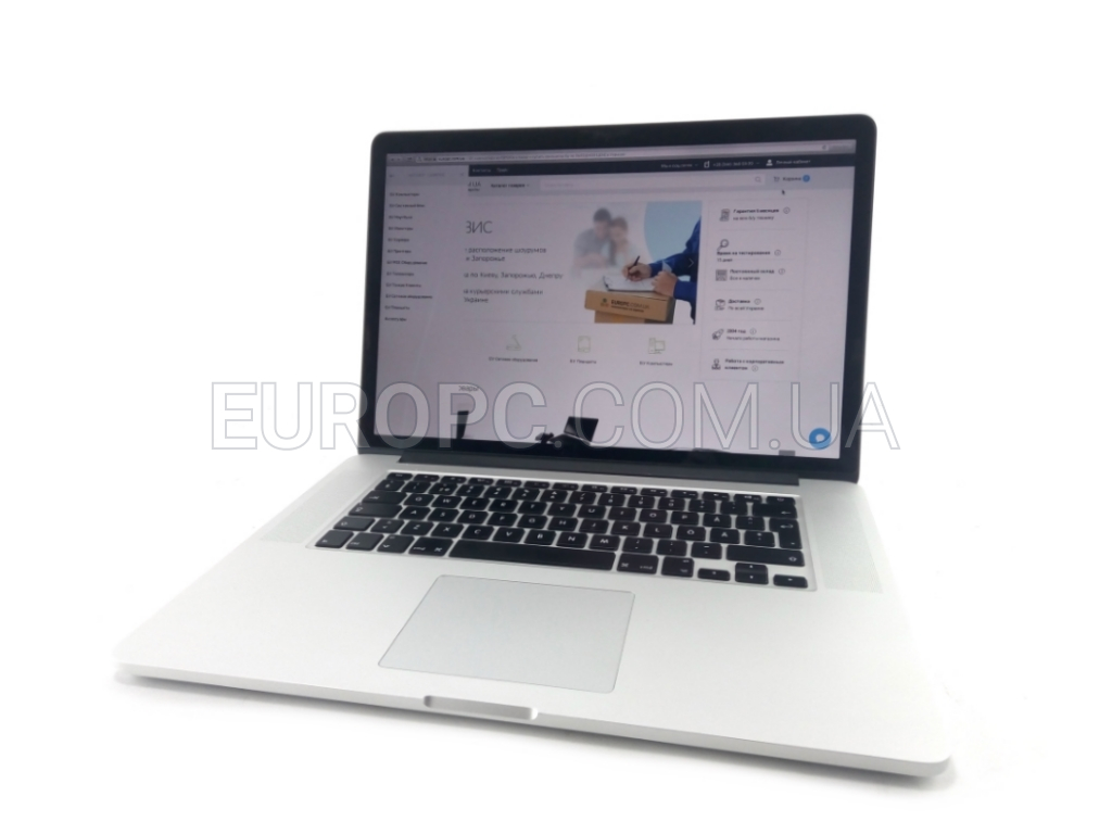 Apple MacBook Pro (Retina, 15-inch, Early 2013) i7-3635QM / 8GB / 256GB SSD / Nvidia GeForce GT 650M фото - EuroPC
